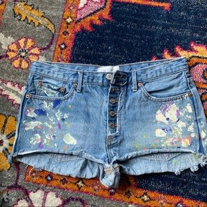We The Free Free People 28 shorts cutoff paint